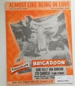 Almost Like Being in Love vintage sheet music from Brigadoon 1940s musical film